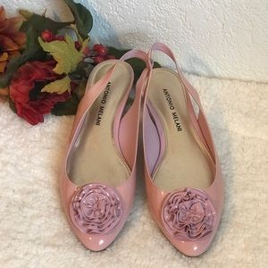 6M 🌸 Antonio Melani Patent Leather Pink Flats